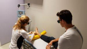 Lézerterápiás kezelés